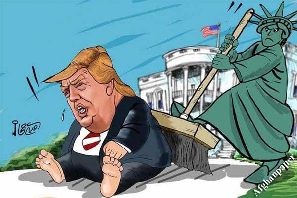 ترامپ در کاریکاتورهای روز